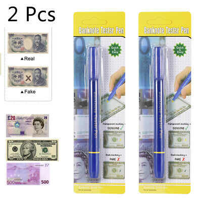Counterfeit Money Detector Pen Marker Fake Dollar Currency Check N1X4 10 Pack