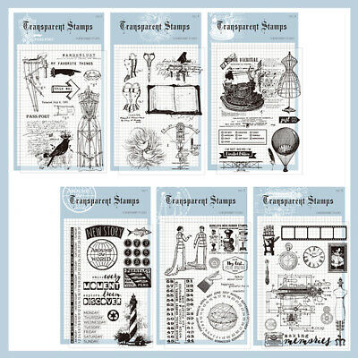 Silicone Clear Stamps Scrapbook Stencil Stamp Floral Album Card Craft Xmas Gift