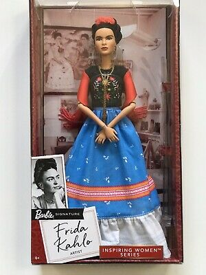 ❤ Frida Kahlo Mattel Barbie Doll Inspiring Women Series Mexican Artist New