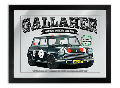 Bar Mirror Suit Gallaher 500 Winner 1966 Mini Cooper 'S' Rauno Alltonen 13C