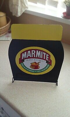 Retro Large Metal Marmite Menu / Recipe Stand .