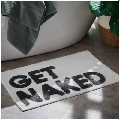 Bath Mat Get Naked Tufted A Supersoft Luxrious Feel Bathroom Mat 50 x 80cm New