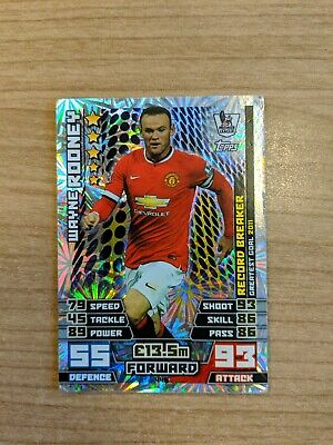 record breaker 446 wayne rooney-manchester united Match attax 2014//2015
