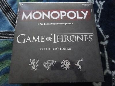 Hasbro Collectors Edition Game of Thrones Monopoly Game