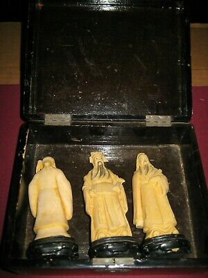 Chinese 3 Wise Men Feng Shui Statues in Box