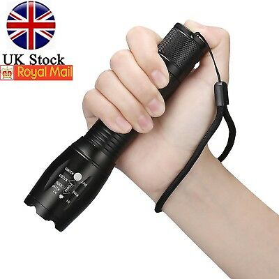 50000LM 5Modes Torch T6 LED Flashlight Zoomable Super Bright Outdoor Lamp 18650