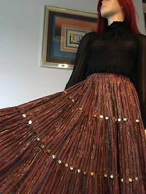 Vintage 70's Monsoon Indian Gypsy Skirt Size XS