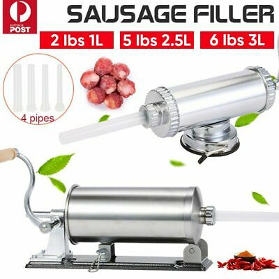 3L Sausage Filler Stuffer Maker Commercial 304 Stainless Steel Meat Machine AU