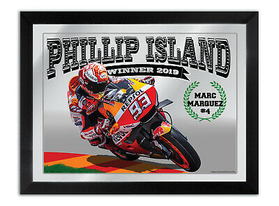 Marc Marquez Moto Gp Winner Phillip Island 2019 Bar Mirror