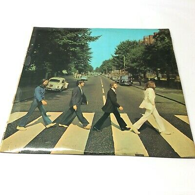 The Beatles 'Abbey Road' UK 'Revised Sleeve'/NO Her Majesty Anywhere Vinyl LP VG