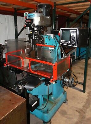 Bridgeport Series I vertical mill with TRAK A.G.E. 2 CNC control