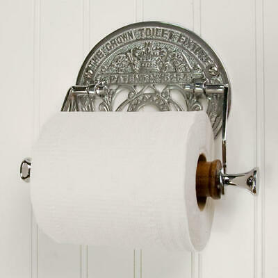 Crown Toilet Fixture Solid Brass Toilet Paper Holder in Chrome