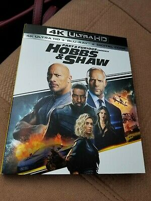 Fast and Furious Presents: Hobbs & Shaw (4K/Blu-ray/Digital) New/Factory Sealed