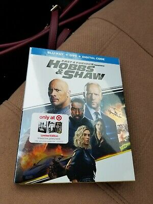 NEW - Fast and Furious presents Hobbs and Shaw(BluRay+Dvd+Digital) Target Exclus