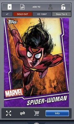 Topps MARVEL COLLECT DIGITAL Card TIER 6 PURPLE Spider Woman