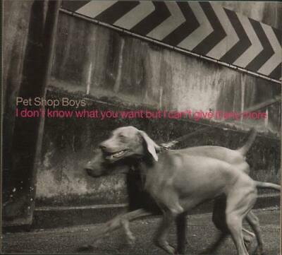 """I Don't Know What You Want But... Pet Shop Boys UK CD single (CD5 / 5"""") promo"""