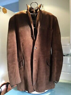 """Vintage Tan Suede Mans Jacket 1960/70's 42"""" Chest.   Made In London By Adastra"""