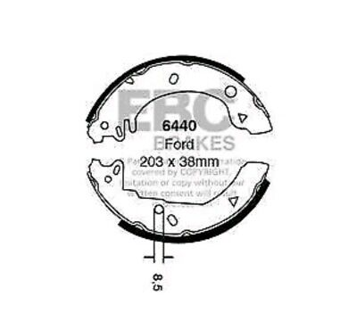 Ford Fiesta XR2i MK3 88/> Courier  Rear Brake Shoes BS802 Check Compatibility