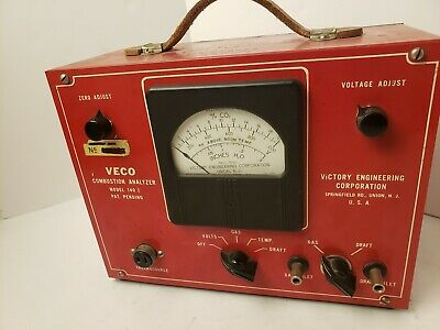 Vintage Testing GAS ANALYZER COMBUSTION Victory Automotive Test Unit