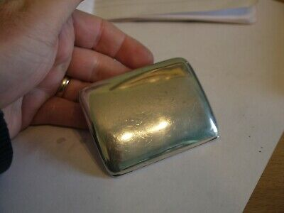 Nice Antique Hallmarked 1910 Solid Sterling Silver Curved Cigarette Case 78Grms