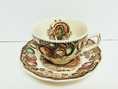 Johnson Brothers His Majesty Cup And Saucer - Brown Mark - Excellent