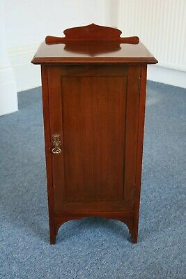 Victorian Mahogany Bedside Cabinet Maple & Co Table Cabinet Cupboard & Shelf