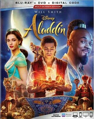 Blu-Ray Aladdin (Blu-Ray / DVD) Nuovo Disney Live Action Will Smith