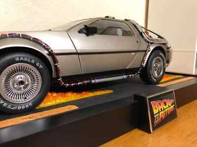 custom flammes flames for delorean eaglemoss back to the future 1/8 diorama x4