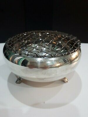 """Vintage Oneida Silver Smiths Silver Plated Rose Bowl Made in Canada 6"""" diameter"""