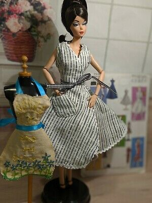 OOAK Handmade Barbie Dress For Vintage, Reproduction And Silkstone Dolls