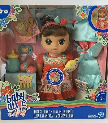 Baby Alive Forest Luna Once Upon a Baby Forest Tales Brown Hair Baby Doll NIB