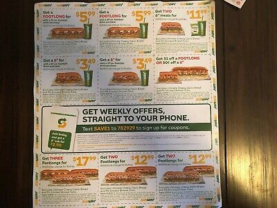 Fast Food Coupons - SubWay - Friendly's - Burger King