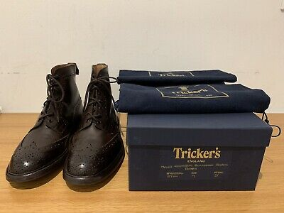 Boots Tricker's Stow Espresso Burnished Brogue Size 9 Fitting 5