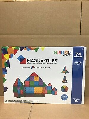 Valtech Clear Colors Magna-Tiles 3D Building Ideas 74 piece set New Sealed Box