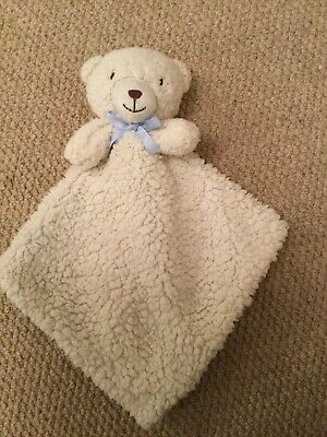 BEANSPROUT Cream And blue bear comforter blanket