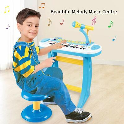 Boys Electronic 31 Key Keyboard Piano Toy Record+ Microphone Stool children kid