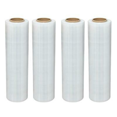 "18"" x 1500' 4 Roll Pallet Wrap Pre-Stretch Film Shrink Wrap 1500FT"