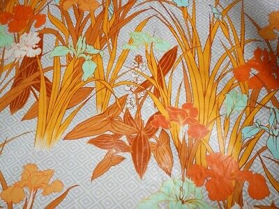 Manuel Canovas Fabric NOS Fermina Botanical Print 10 Yards Orange Deadstock Bolt