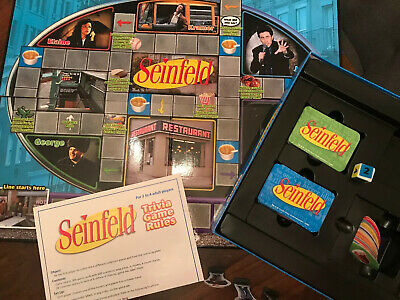 2009 Seinfeld Trivia Board Game Complete Pressman New Open Box But Never Played