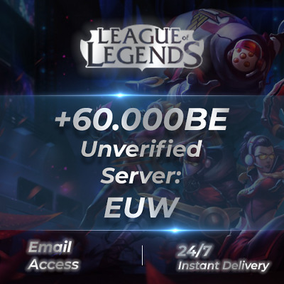 League Of Legends Account LOL Euw Smurf 50,000 - 59,000 BE IP Unranked Level 30