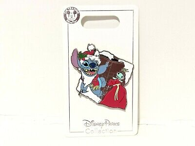 Disney Parks 2019 Holiday Christmas Lilo and & Santa Stitch With Scrump Pin