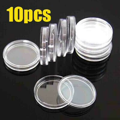 10pcs 39mm Coin Capsules Acrylic Case Holder Fit 1 OZ Silver or Copper Rounds