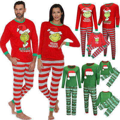 Family Xmas Matching Pajamas Adult Kids Dog Christmas Pyjamas Nightwear PJs Sets