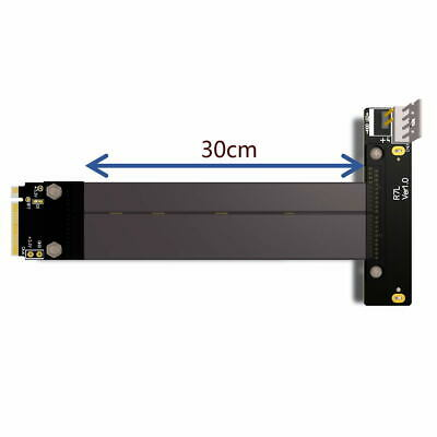 CY U.2 SFF-8639 PCI-E 3.0 to M.2 M-Key NVMe Adapter Card with 30cm Cable for SSD