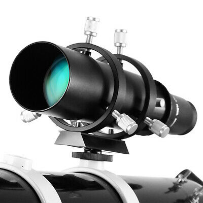 50mm CCD Imaging Guide Scopes Finderscope w/ Bracket for Astro Telescopes