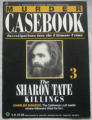 Murder Casebook Issue 3 - The Sharon Tate Killings - Charles Manson