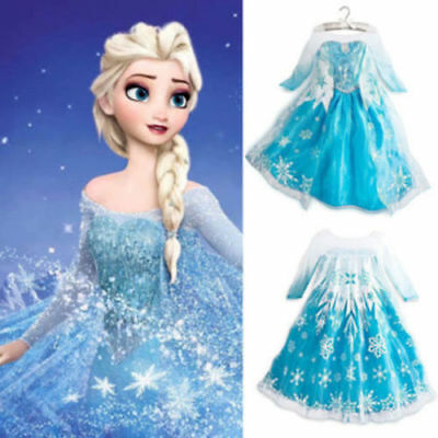Kids Fancy Dress Costume ELSA frozen SNOW WHITE CINDERELLA Halloween Party YW