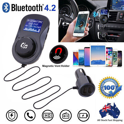 FM Transmitter Handsfree Wireless Bluetooth Car Kit Radio MP3 Player USB Charge
