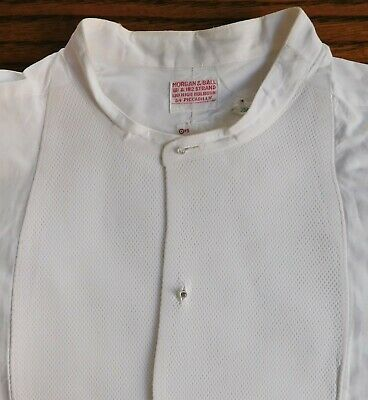 Starched Marcella tunic shirt size 14.75 vintage Morgan & Ball formal dress wear