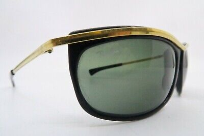 Vintage B&L Ray Ban Olympian sunglasses etched BL mens large USA KILLER